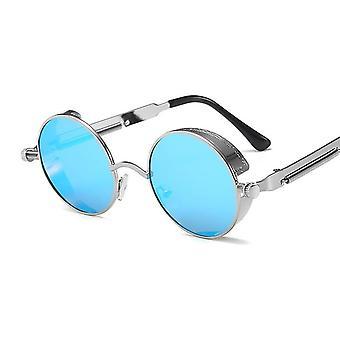 العلامة التجارية مصمم خمر جولة معدنية الإطار عالية الجودة Uv400 نظارات الشمس