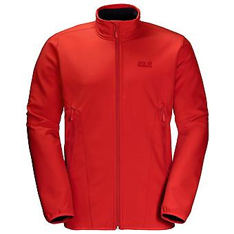Jack Wolfskin Mens Northern Pass Jacket Zip Up Coat Red 1305331 2015