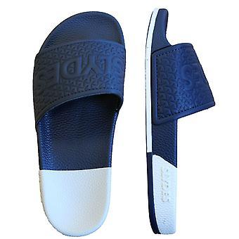 Slyde Split Womens Slip On Sliders Open Toe Flip Flops Slide Two Tone S0050S042