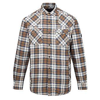 Regatta Mens Tavior Fleece Checked Long-Sleeved Shirt