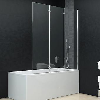 Foldable shower cabin 3 panels ESG 130 x 138 cm