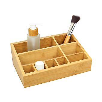 Woodquail Bamboo Cosmetic Organiser Tidy, Makeup Storage Display