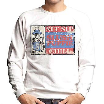 Slush Puppie Retro 70's Sit Sip Chill Poster Men's Sweatshirt