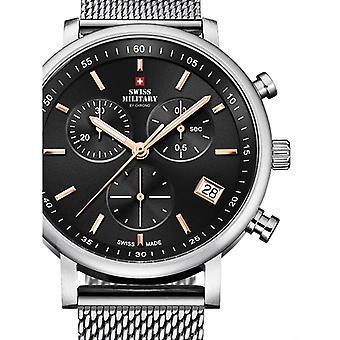 Reloj masculino militar suizo por Chrono SM34058.03, cuarzo, 42 mm, 10ATM