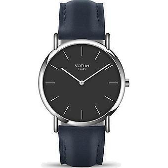 VOTUM - Reloj de señora - SLICE SMALL - PURE - V05.10.10.02 - correa de cuero - azul