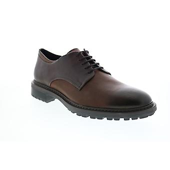 Geox U Brenson Mens Brown Leather Oxfords & Lace Ups Plain Toe Shoes