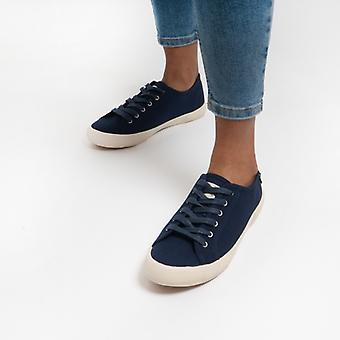 Joules Coast Pump Ladies Canvas Trainers French Navy