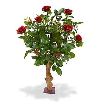 Sztuczna róża na tułowiu 75 cm czerwony