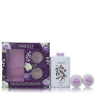 Engelska Lavendel Gift Set Av Yardley London 7 oz Parfymerad Talc + 2