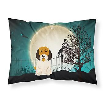 Caroline'S Tesoros Halloween Scary Petit Basset Griffon Veenden tela funda de almohada estándar Bb2269Pillowcase