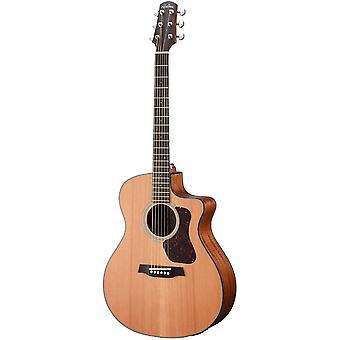 Walden g570ce natura solid cedar top grand auditorium acoustic cutaway-electric guitar - open pore satin natural