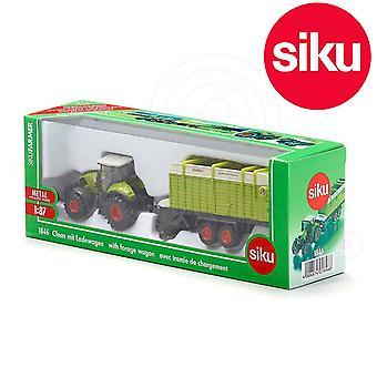 Siku claas tractor with  forage wagon 1:87