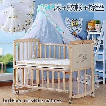 Muoti sänky Vauvan massiivipuu maali vapaa keinu push muuttuva työpöytä kehto