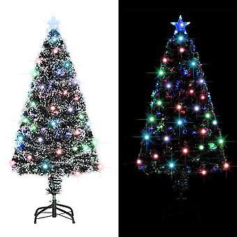 vidaXL Keinotekoinen joulukuusi jalustalla /LED 120 cm 135 oksaa