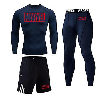 Men Thermal Underwear Set, Compression Leggings Tights Male Winter Rashguard