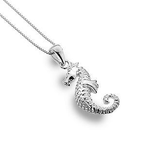 Sterling Silver Pendant Necklace - Origins Seahorse