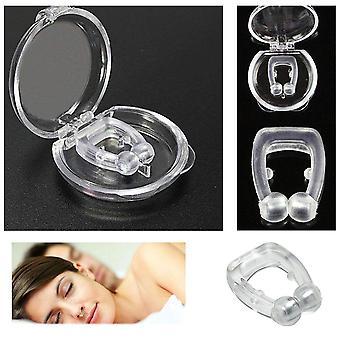 Siliconen magnetische anti snurken stoppen snurken neus clip slaapschaal slaapmiddel apneu bewaker nacht apparaat met geval