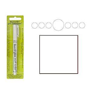 Decoart vit glas markör 1mm