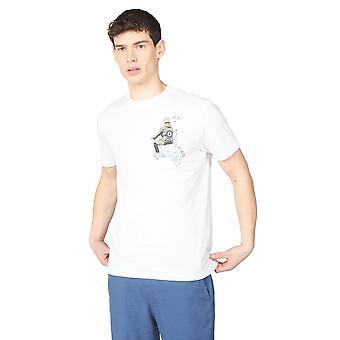 Camiseta con estampado de scooter blanco