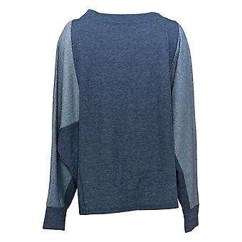 Anybody Women's Sweatshirt Plus Double Knit With Thumbholes Blue A384065