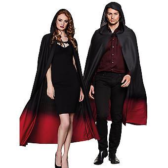 Zwarte kaap gradiënt rode volwassen Halloween