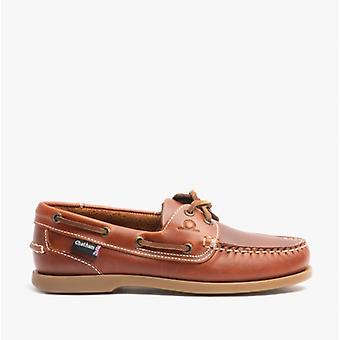 Chatham Deck Lady G2 Ladies Leather Boat Shoes Chestnut
