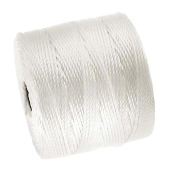 Super-Lon (S-Lon) Cord - Size 18 Twisted Nylon - White / 77 Yard Spool