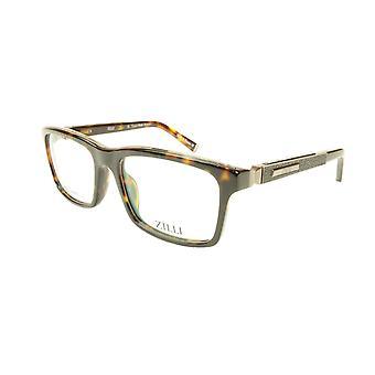 ZILLI glasögon Ram Acetate Läder Titanium Frankrike Handgjord ZI 60001 C02