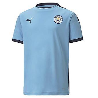 PUMA MCFC Training Jersey Jr Unisex Shirt, Unisex - Erwachsene, T-Shirt, 757879, Team Light Blue Peacoat, 110