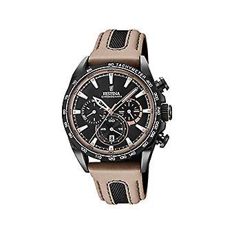 フェスティナ ユニセックス アダルト クォーツ クロノグラフ 時計 レザー ストラップ F20351/1