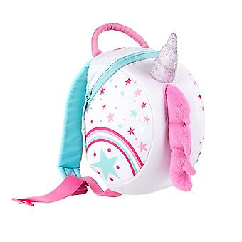 LittleLife Toddler Backpack with Safety Rein, Unicorn Backpack with Unisex-Children Safety Reinforcement, White, One Size