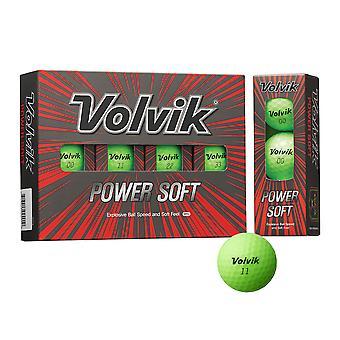 Volvik Powersoft Coloured Golf Balls - Dozen Green