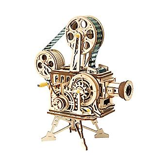 Vintage Projektor Retro 3D Puzzle Drewniany prezent Projektor Dekoracja Puzzle Game Assembly| Bloki