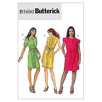 Butterick Ompelu kuvio 5600 Misses Puoli-sovitettu mekko Koko 6-12 Leikkaamaton