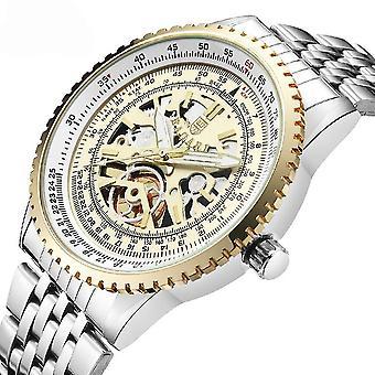 Casual BAGARI 1680 Full Steel Men Wrist Watch Business Unique Design Quartz Watch