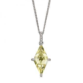 אלמנטים זהב עפיפון בצורת לימון קוורץ תליון זהב לבן GP2276Y