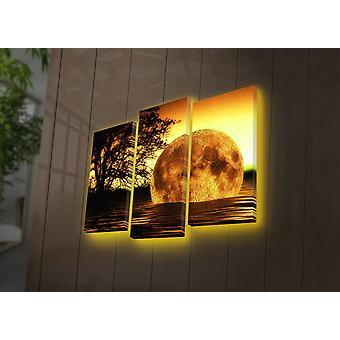 3PATDACT-26 Flerfärgad dekorativ ledljus dukmålning (3 stycken)