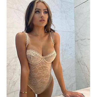 Lace Bodysuit Women Sexy Bodycon