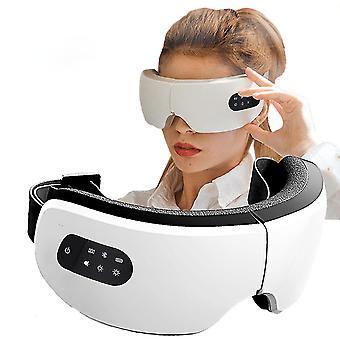 Elektrisk uppvärmning Bluetooth Eye Massager Hot Compress Behandling för att lindra trötthet