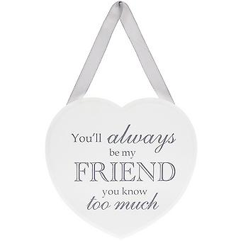 Hanging Heart Plaque for Friend | Gift Item