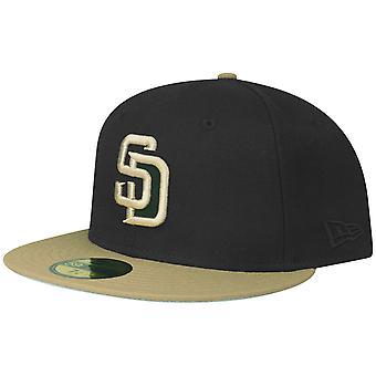 Uusi aikakausi 59Fifty Asennettu korkki - San Diego Padres musta khaki