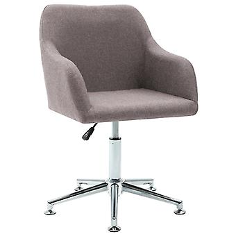 vidaXL office chair swivel Taupe fabric