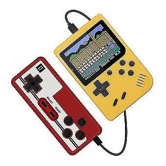 400 In 1 Retro Portable Handheld Color Lcd Game Player 2 Player Video Game Console(Yellow)