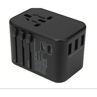 مزدوج نوع C PD QC USB الكل في واحد مآخذ محول شاحن| محول التوصيل الدولي