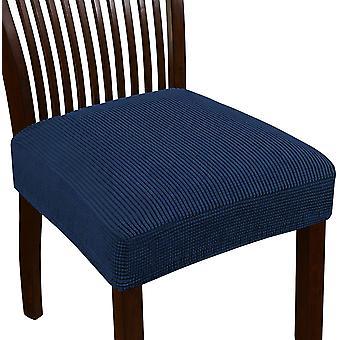 Venytä jacquard tuoli istuimen istuimen kannet ruokasalin tuoli istuin slipcovers irrotettava pestävä tuoli istuin tyynyn liukumäkeä, tummansininen