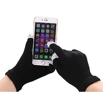 Sony Xperia X (2017) (Preto) Unissex One Size Winter Touchscreen Gloves For All Smartphones / Tablets