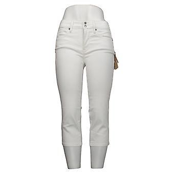 NYDJ Petite Jeans Crop para mujer con hendiduras laterales - Optic White A377695