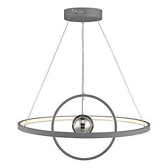 DAR MERCURY sirkulært anheng lys horisontal 2 sfære grå LED, 1x LED