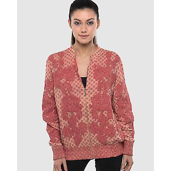 Embroidered, Beaded  And Printed Bomber Jacket