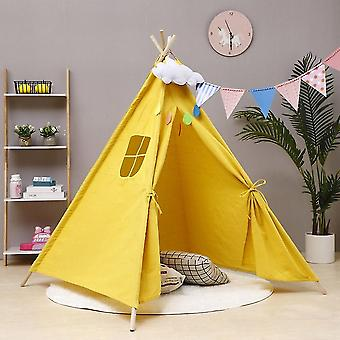 Large Teepee Cotton Canvas Tent-play House